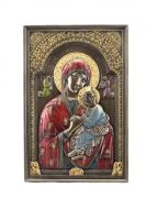Bronze Effect Virgin Mary Our Lady of Perpetual Help Wall Plaque Sculpture Religious Ornament